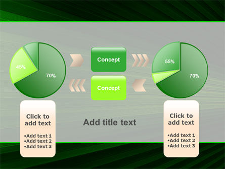 Free Abstract Green Lines PowerPoint Template Slide 16