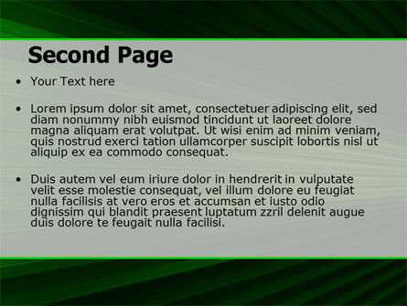 Abstract Green Lines Free PowerPoint Template Slide 2