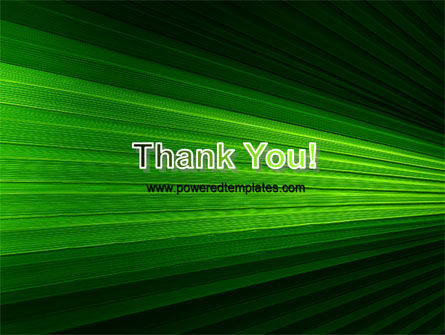 Free Abstract Green Lines PowerPoint Template Slide 20