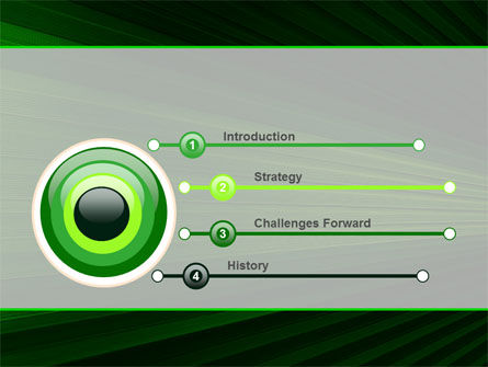 Abstract Green Lines Free PowerPoint Template Slide 3