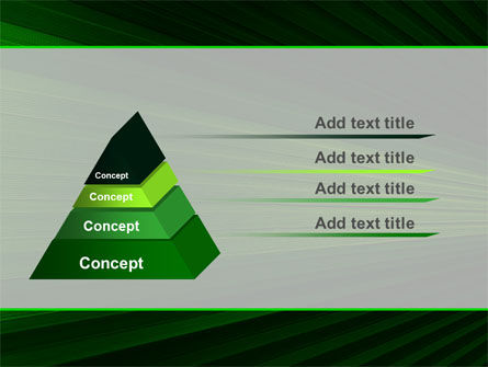 Free Abstract Green Lines PowerPoint Template Slide 4