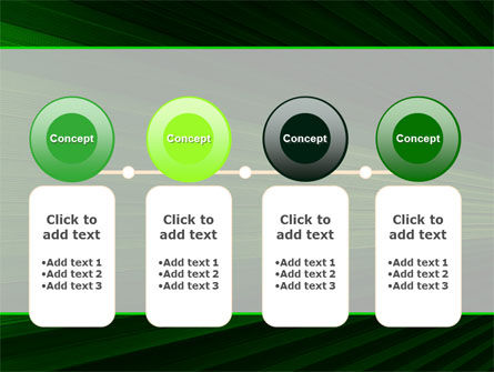 Free Abstract Green Lines PowerPoint Template Slide 5