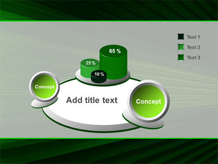 Abstract Green Lines Free PowerPoint Template Slide 6