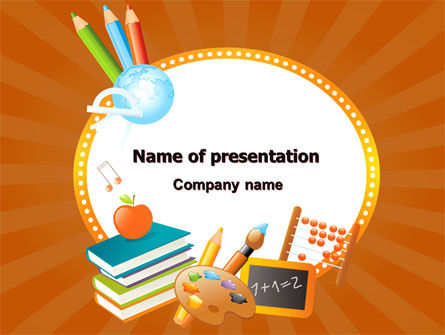 Education & Training: School Learning Theme PowerPoint Template #06841