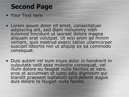 Steel Background PowerPoint Template Slide 2