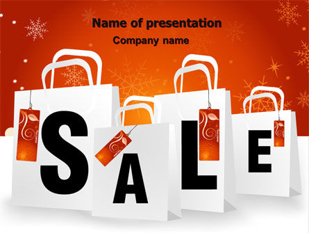 Christmas Sale PowerPoint Template, 06843, Careers/Industry — PoweredTemplate.com