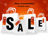Careers/Industry: Christmas Sale PowerPoint Template #06843