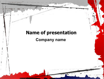 Abstract/Textures: Blood Splatter Theme PowerPoint Template #06844