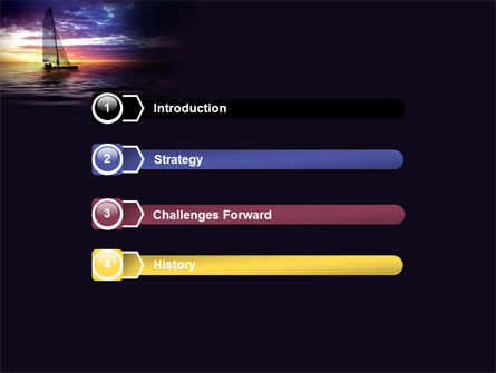 Twilight Sea PowerPoint Template, Slide 3, 06845, Sports — PoweredTemplate.com
