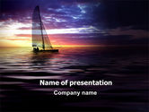Sports: Twilight Sea PowerPoint Template #06845