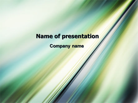 Abstract/Textures: Green Blur PowerPoint Template #06846