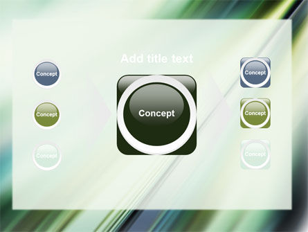 Green Blur PowerPoint Template Slide 17