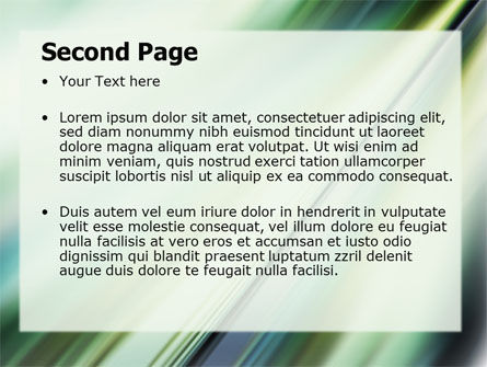 Green Blur PowerPoint Template Slide 2