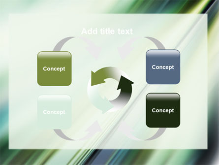 Green Blur PowerPoint Template Slide 6