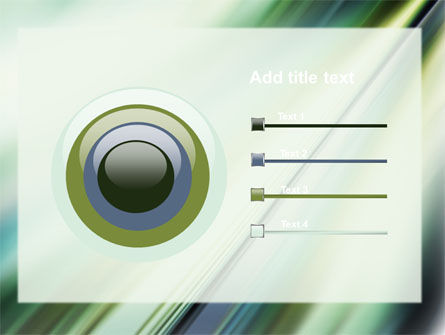 Green Blur PowerPoint Template Slide 9