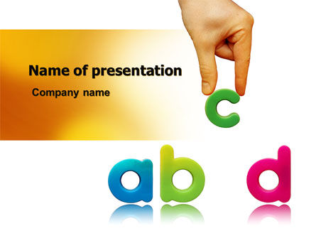 Childish Letters PowerPoint Template, 06849, Education & Training — PoweredTemplate.com