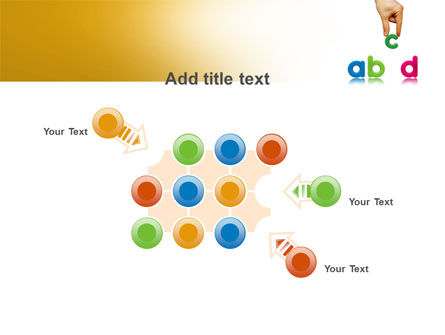 Childish Letters PowerPoint Template Slide 10