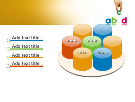 Childish Letters PowerPoint Template Slide 12