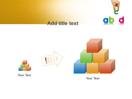 Childish Letters PowerPoint Template Slide 13