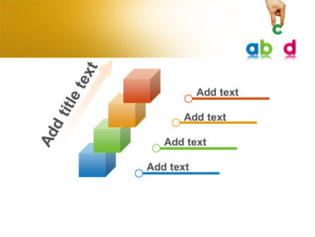 Childish Letters PowerPoint Template Slide 14