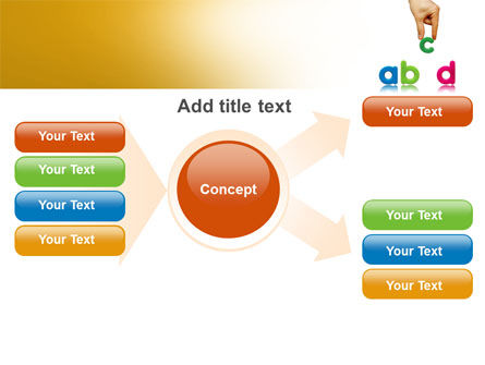 Childish Letters PowerPoint Template Slide 15