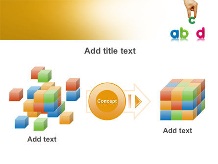 Childish Letters PowerPoint Template Slide 17