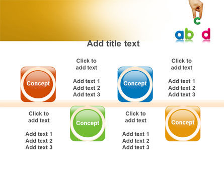Childish Letters PowerPoint Template Slide 18