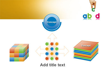Childish Letters PowerPoint Template Slide 19