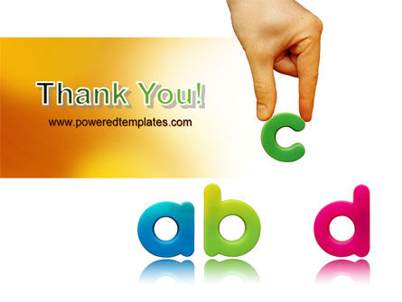 Childish Letters PowerPoint Template Slide 20
