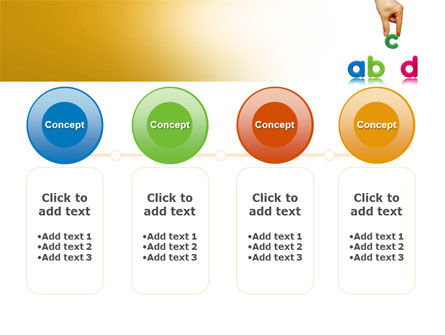 Childish Letters PowerPoint Template Slide 5