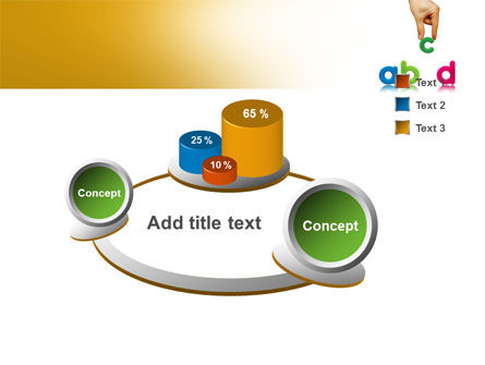 Childish Letters PowerPoint Template Slide 6