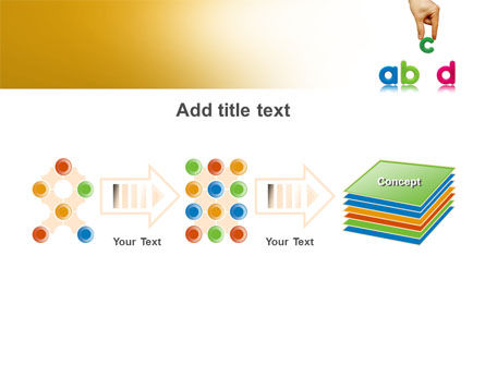 Childish Letters PowerPoint Template Slide 9