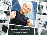 People: Career for Women PowerPoint Template #06850