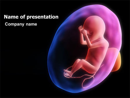 Medical: Fetus PowerPoint Template #06851