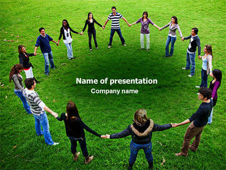 Round Circle PowerPoint Template, 06852, Religious/Spiritual — PoweredTemplate.com