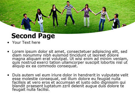 Round Circle PowerPoint Template Slide 2