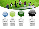 Round Circle PowerPoint Template#13