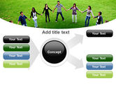 Round Circle PowerPoint Template#14