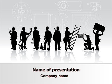 Building Team PowerPoint Template, 06853, Utilities/Industrial — PoweredTemplate.com