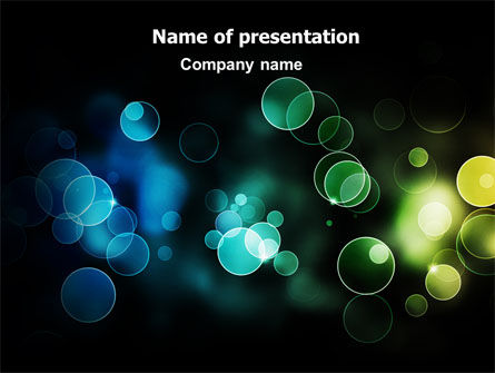 Abstract/Textures: Bokeh for Photography PowerPoint Template #06855