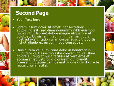 nutrition powerpoint template, backgrounds, Powerpoint