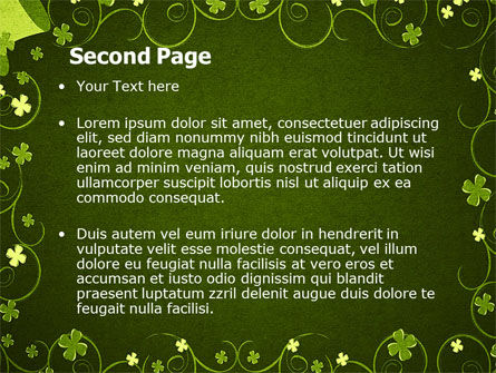 Irish Theme PowerPoint Template, Slide 2, 06857, Holiday/Special Occasion — PoweredTemplate.com