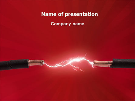 Electric spark powerpoint template backgrounds 06858 electric spark powerpoint template toneelgroepblik