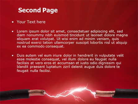 Electric Spark PowerPoint Template Slide 2