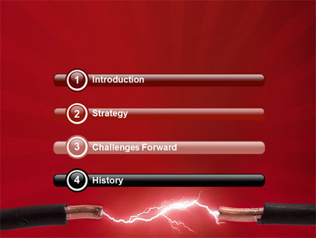 Electric Spark PowerPoint Template, Slide 3, 06858, Consulting — PoweredTemplate.com