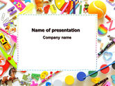 Education & Training: Childish Frame PowerPoint Template #06861