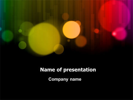 Rainbow Bokeh PowerPoint Template