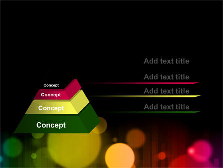 Rainbow Bokeh PowerPoint Template Slide 12