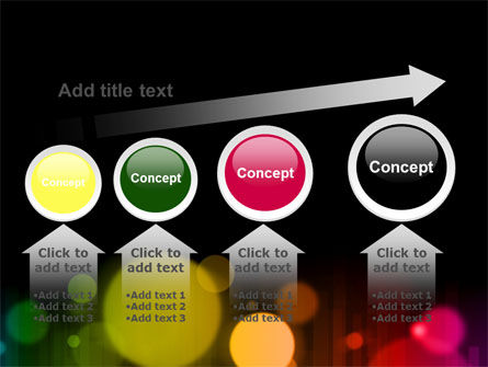 Rainbow Bokeh PowerPoint Template Slide 13
