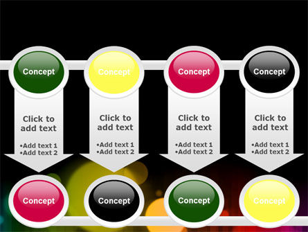 Rainbow Bokeh PowerPoint Template Slide 18